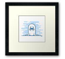 Cute Blue Seal Framed Print