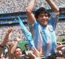 Maradona and Argentina world champions Mexico 1986 Sticker