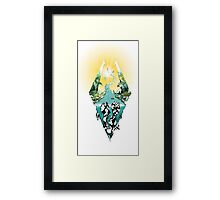 Nature Skyrim logo Framed Print