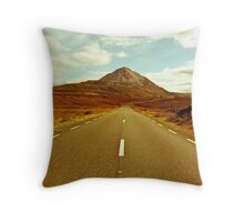 landscape of road to the Errigal mountains Throw Pillow