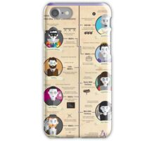 Theatre Styles Infographic Poster iPhone Case/Skin