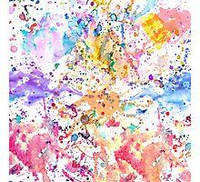 Rainbow watercolor Photographic Print
