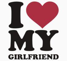 I love heart my girlfriend by Designzz