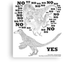Just say NO to unfeathered non-avialan maniraptoran theropod dinosaurs Canvas Print