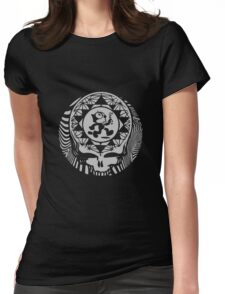 Grateful Dead -  Psychedelic Skull Felix  Womens Fitted T-Shirt
