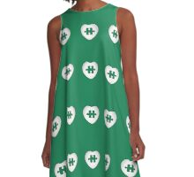 Puzzled Heart A-Line Dress