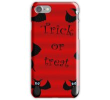 Trick or treat - bats iPhone Case/Skin