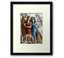 Hannibal - Nike and Themis colored Framed Print