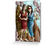 Hannibal - Nike and Themis colored Greeting Card