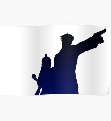 Defense Silhouette Poster
