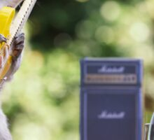 Rock and roll squirrel with guitar Sticker