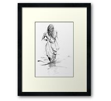 Lady In the Waters  Framed Print