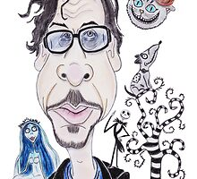 Dark Gothic Fantasy Movies Caricature Drawing by MMPhotographyUK