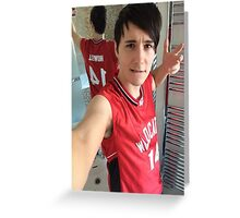 danisnotonfire (troy bolton selfie) Greeting Card