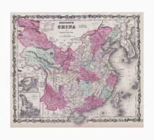 Vintage Map of China (1862)  T-Shirt