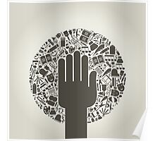 Arts a hand Poster