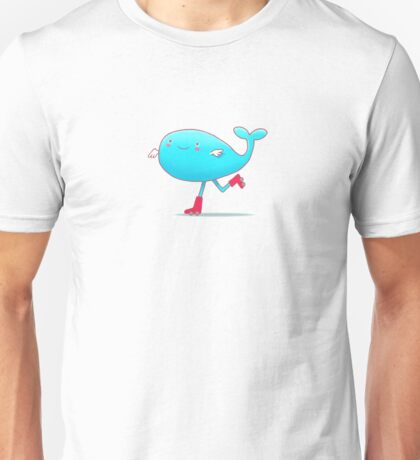 Skating Whale Graphic Unisex T-Shirt
