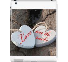 love on the rocks wooden hearts iPad Case/Skin
