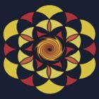 Sacred Geometric Vortex by Moodphaser