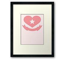 Texas Heart VRS2 Framed Print