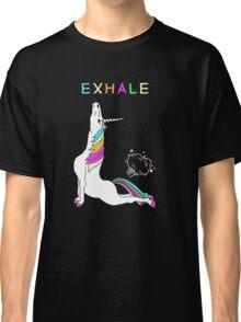 Exhale unicorn Classic T-Shirt