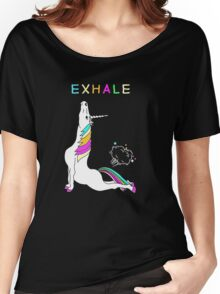 Exhale unicorn Women's Relaxed Fit T-Shirt