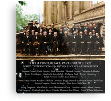 1927 Solvay Conference (spacetime bg), posters, prints Metal Print