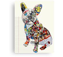 french bulldog modern  Canvas Print