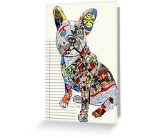 french bulldog modern  Greeting Card