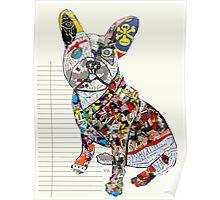 french bulldog modern  Poster