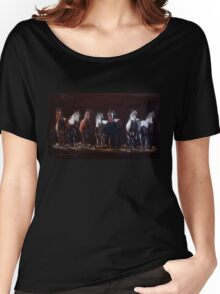 """""""The Line Up"""" Women's Relaxed Fit T-Shirt"""
