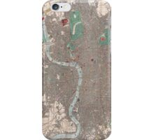 Vintage Map of London England (1862) iPhone Case/Skin