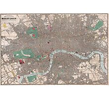 Vintage Map of London England (1862) Photographic Print