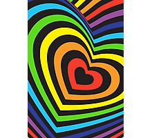 Rainbow heart 3d  Photographic Print