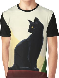 Black Cat - Oh Puss No1 Graphic T-Shirt