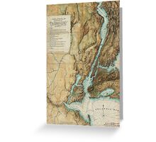 Vintage Map of New York City Harbor (1864)  Greeting Card
