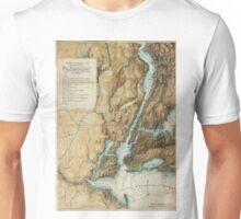 Vintage Map of New York City Harbor (1864)  Unisex T-Shirt