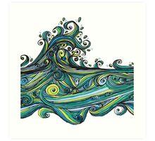 Crashing Wave Tangle Art Print