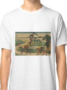 Sumidagawa sekiya no sato - Hokusai Katsushika - 1890 Classic T-Shirt