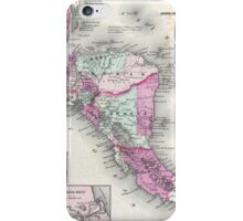 Vintage Map of Central America (1864) iPhone Case/Skin