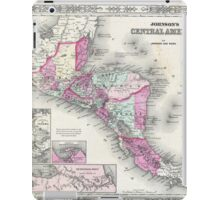 Vintage Map of Central America (1864) iPad Case/Skin