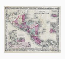 Vintage Map of Central America (1864) T-Shirt