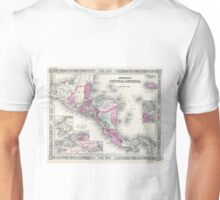 Vintage Map of Central America (1864) Unisex T-Shirt