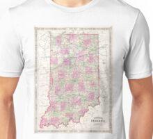 Vintage Map of Indiana (1864) Unisex T-Shirt