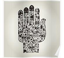 Hand art Poster