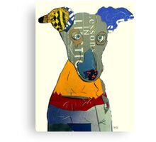kacy the greyhound Canvas Print