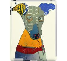 kacy the greyhound iPad Case/Skin