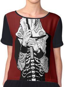 Skeleton Hoodie Chiffon Top