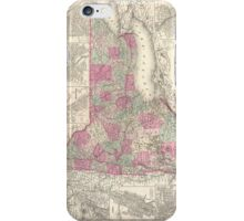 Vintage Map of New York (1864) iPhone Case/Skin