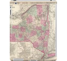 Vintage Map of New York (1864) iPad Case/Skin